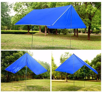 Waterproof Rainfly 10x10 ft Large Tent Tarp for C&ing and Snow Protection with Reflective Rope and & Waterproof Rainfly 10x10 Ft Large Tent Tarp For Camping And Snow ...