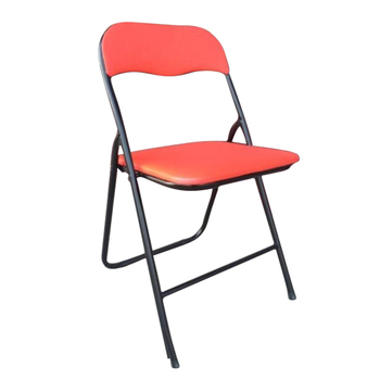 Leisure style general use pu leather cushion garden dining plastic folding chair