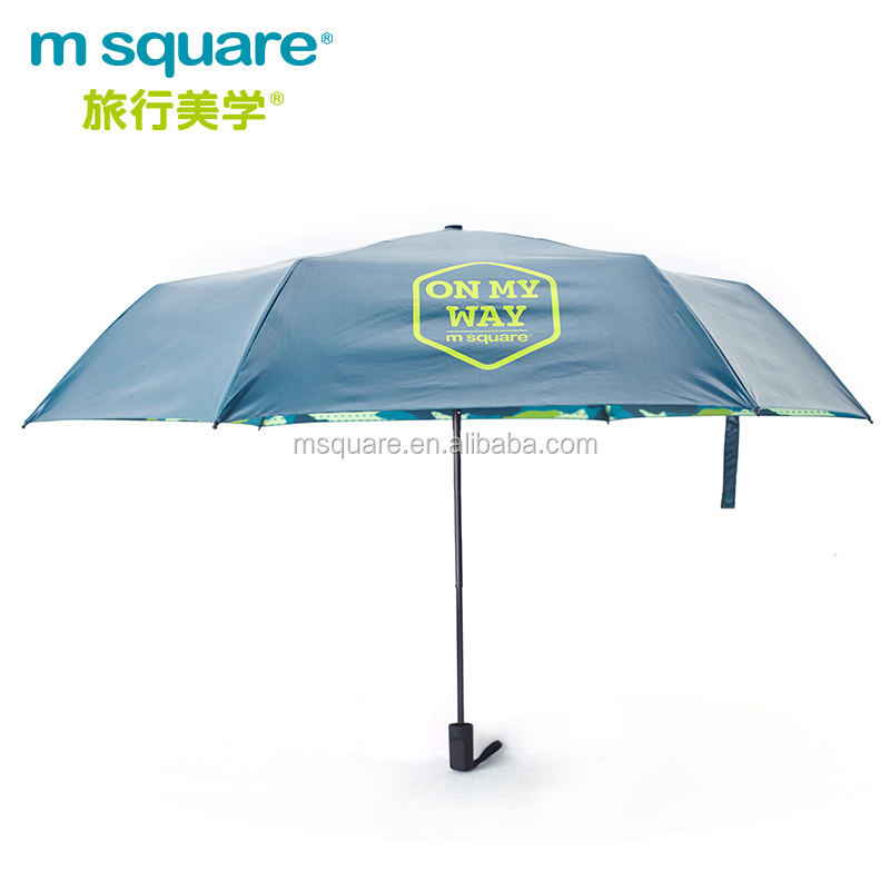 M Square portable full color printing travel rain umbrella