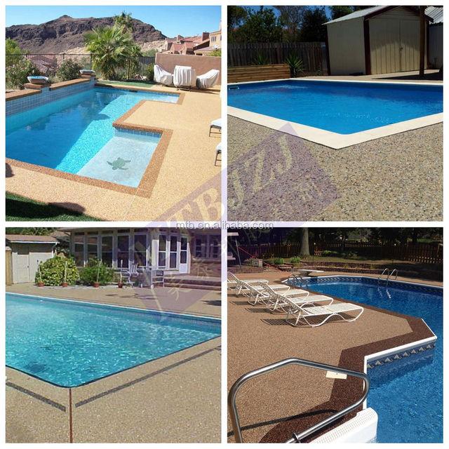 Epoxy Pebblestone Pool Deck Concrete