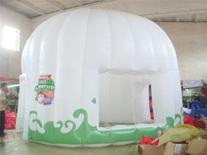 Plastic inflatable tents with air blower made in China