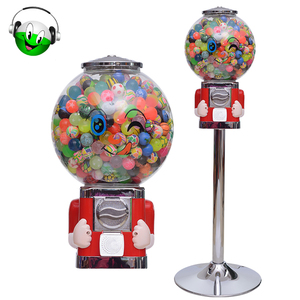 Factory price candy / bouncy ball /gumball machine with stand