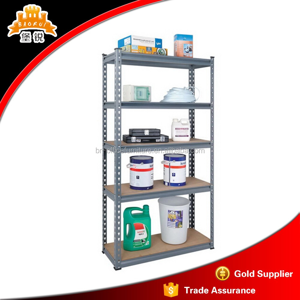 4 shelf wire slotted angle commercial metal storage rack shelving units