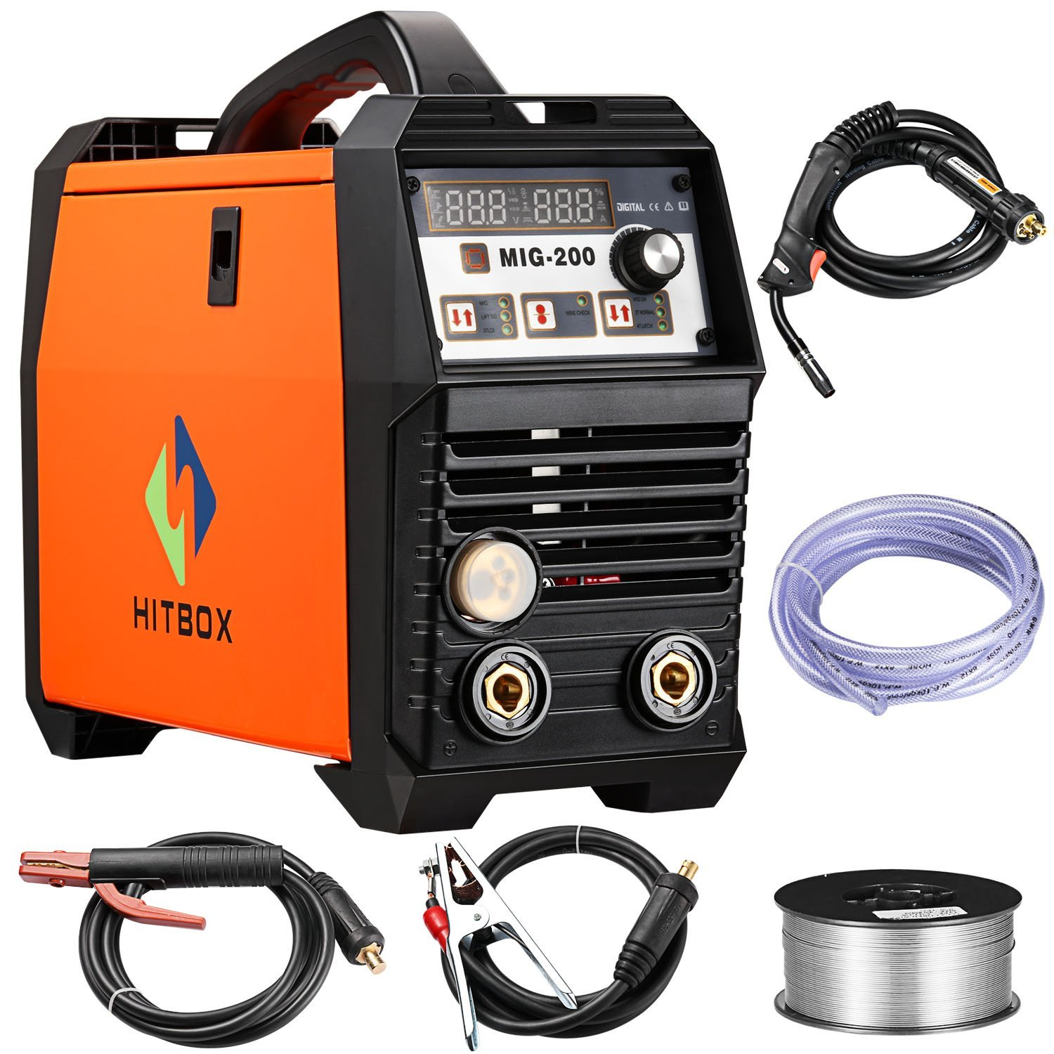 MIG Welder Inverter Mig welding 200Amp 220V DC MIG MAG ARC LIFT TIG ARC Welding Machine Gas Gasless Flux Cored Wire Solid Core Wire Welder