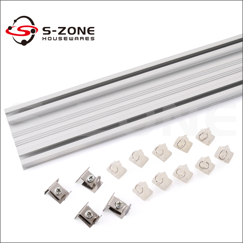 Beautiful OEM Factory Supplier Double Sliding Curtain Track Channel