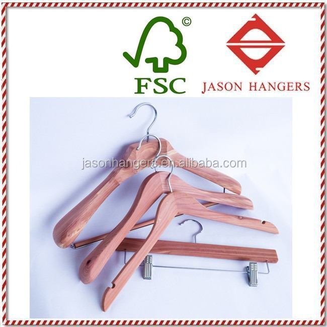 DL0681distinct scent Cedar clothes hangers red cedar hanger for closet and hotel