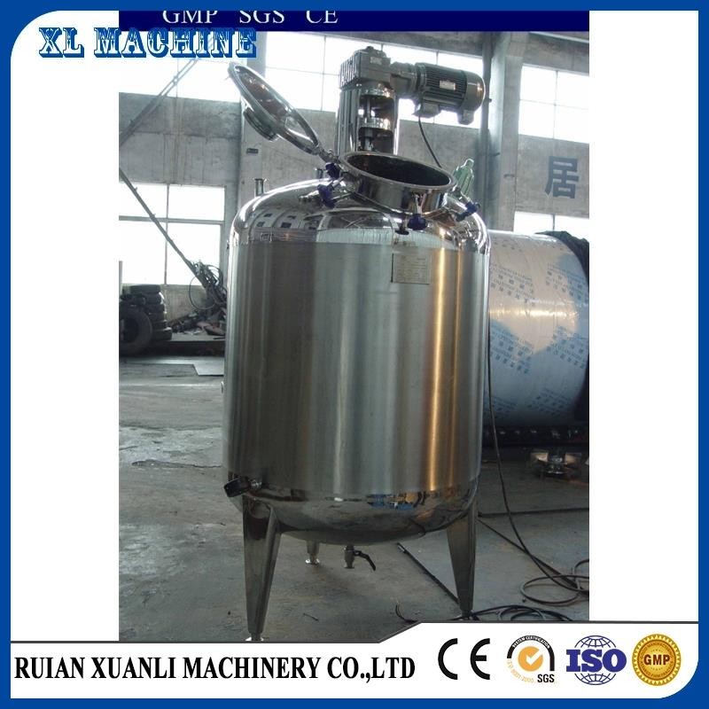 customized electric heating stainless steel liquid mixing tank with agitator/mixer