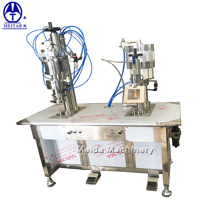 semi automatic bov aerosol filling machine for olive oil and sunflower