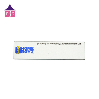High Technics Machine Use Self Adhesive High Brushed Custom Embossed Logo Thick Metal Nameplate