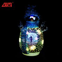2020 new product 3D magic LED glass christmas snowman