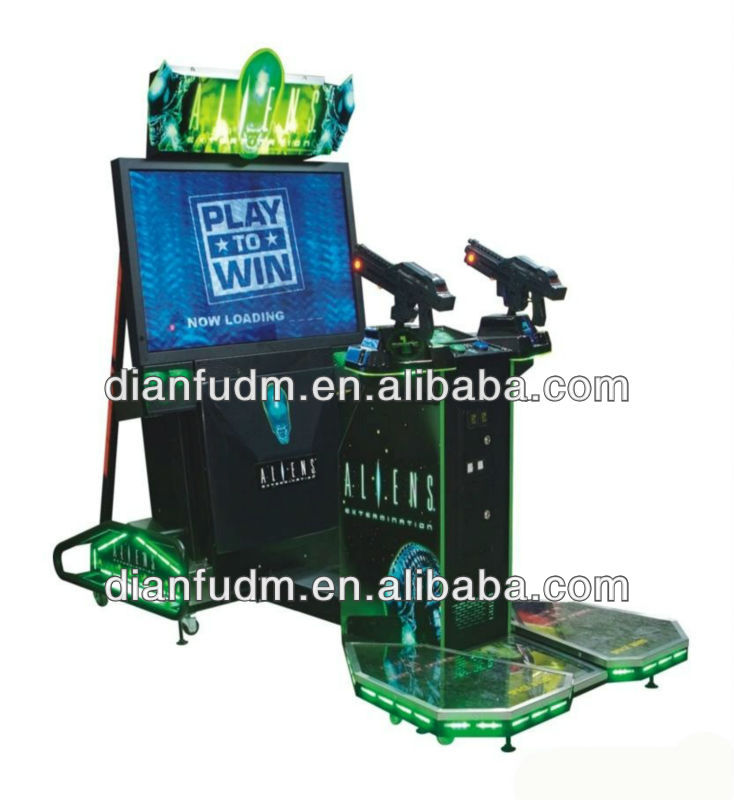 2013 Hot Sale / DF-S01 Aliens extermination game machine - Aliens shooting gun simulator