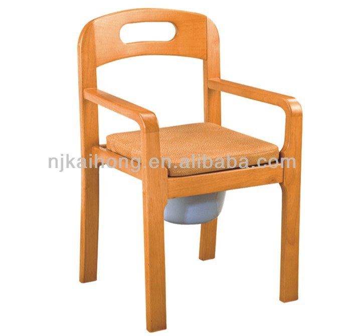 wooden commode chair