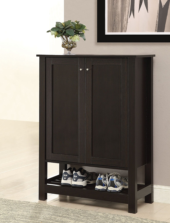 Get Quotations Simple Relax 1perfectchoice Accent Entryway Organize Shoe Cabinet Door Racks Bottom 4 Shelf Wood Cuccino