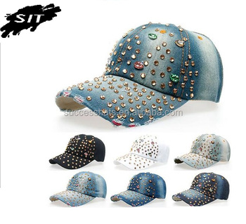 ce9d06d1e2f OEM/ODM Custom Fashion Women Luxury Rhinestone Caps And Hats , Rhinestone  Wholesale Caps And