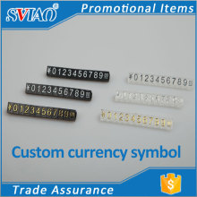 Three size Three-dimensional convex digital plastic jewelry price tags display