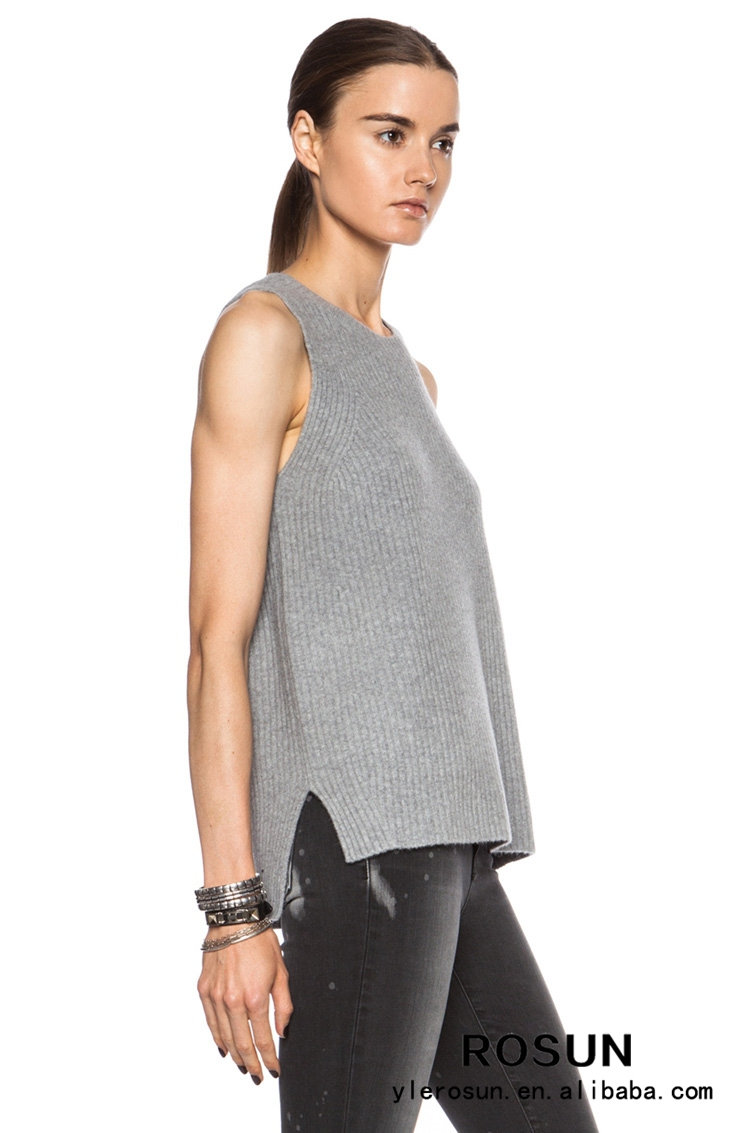 Side-slip Vest Sweater Women Crew Neck Sweater Vest - Buy Sweater ...