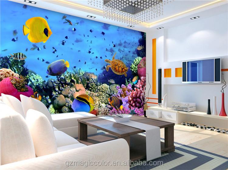 Behang Kinderkamer Vissen : Schildpad vissen onderwater dieren foto decor kamer behang voor
