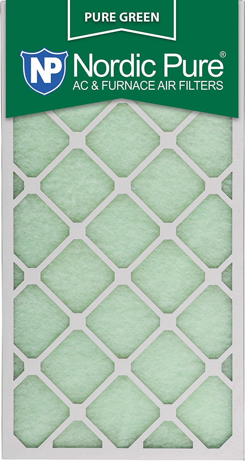 "Nordic Pure 12x30x1PureGreen-3 AC Furnace Air Filters, 12 x 30 x 1"", Pure Green"