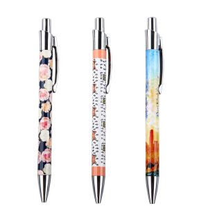 China pen factory wholesales metal Ball Pen With Full Color Printing ball point pen