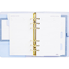 Professional Exclusive 6 Gold Ring Binder Planner PU Leather Cover Refill Organizer School Supply Best Life Planner