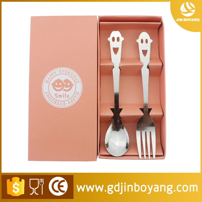 Spoon fork camping <strong>stainless</strong> steel tableware <strong>Stainless</strong> steel Cutlery set Smiling face Spoon and fork Gift Set