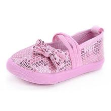 Hot selling four seasons all match child canvas single children shoes paillette girls shoes princess shoes
