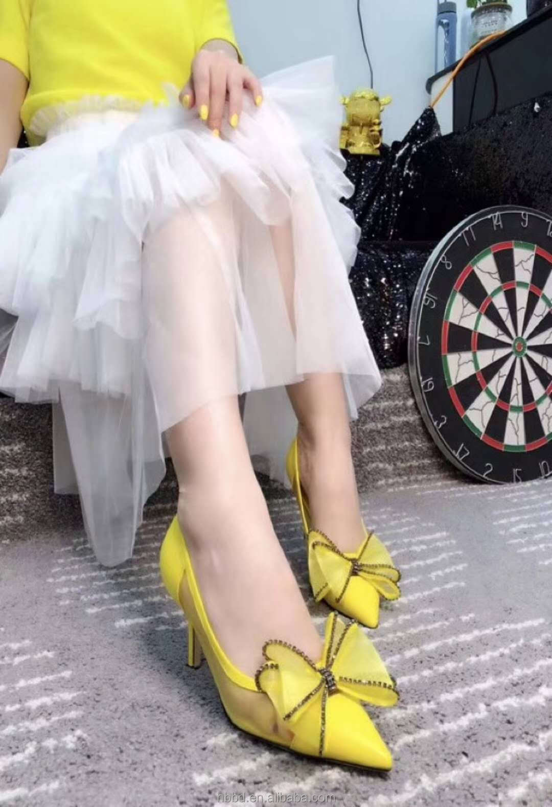 square women vintage leather super feminine rhinestone little dress shallow wholesale designer mouth shoes stiletto bowknot toe PwAFq5Fdn