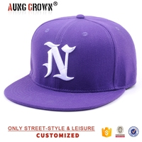 Bulk sale purple fitted plain adjustable plastic strap cap