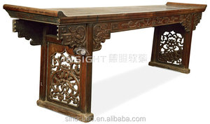 chinese antique alter table wood carved console table