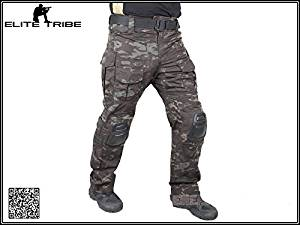 07ee045f4a Get Quotations · Men Military Airsoft Paintball BDU Pants Combat Gen3  Tactical Pants with Knee Pad MultiCam Black