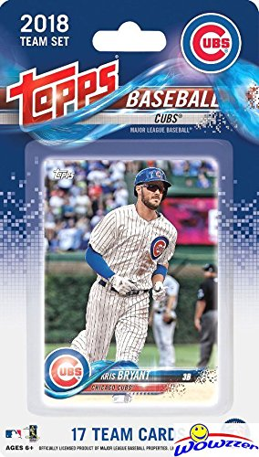 Chicago Cubs 2018 Topps Baseball EXCLUSIVE Special Limited Edition 17 Card Complete Team Set with Kris Bryant, Anthony Rizzo, Ian Happ & Many More Stars & Rookies! Shipped in Bubble Mailer! WOWZZER!