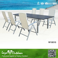 LY Approval Overseas Factory audit all-purpose sectional outdoor patio white dining chair set of 6