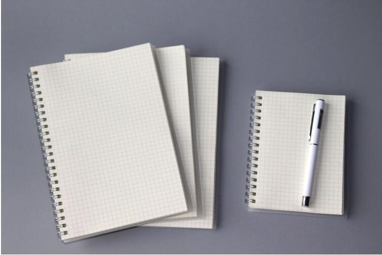 Wholesale white cover school a4 grid notebook