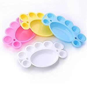 edealing(TM) 2PCS Nail Art Care Palette Plastic Dish for Powder Polish Mixing Acrylic Paint Beauty Tool