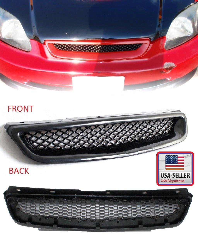 Honda Civic EK9 Coupe / Sedan 96-98 JDM Type R Style Front Bumper Grille Grill