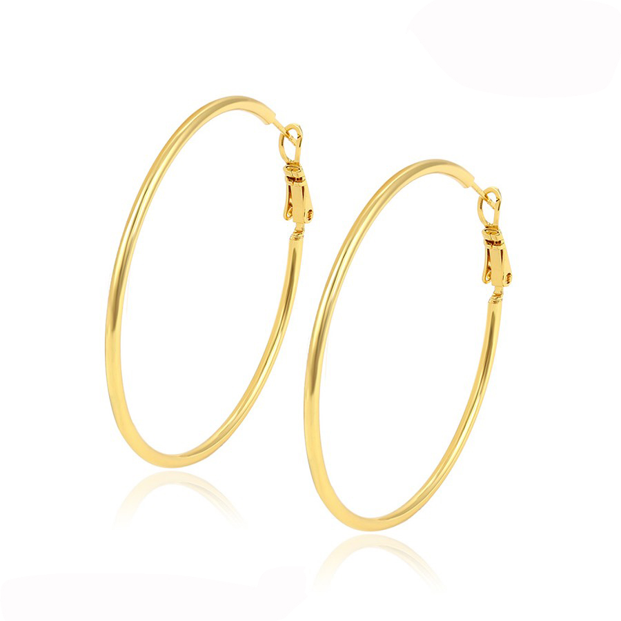 92284 xuping wholesale earrings for women, fashion Fancy Design Gold big hoop earring women