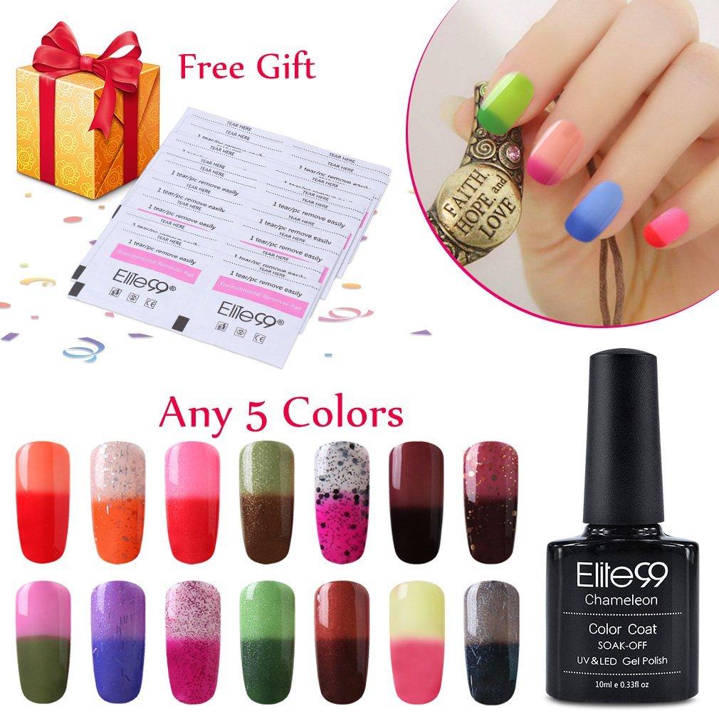 Buy Elite99 Pick Any 5 Colors Soak Off Gel Nail Polish UV LED Color ...