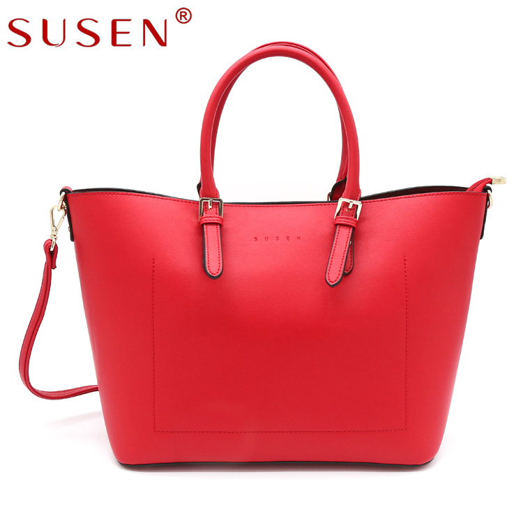 SUSEN Wholesale Latest Design fashion genuine leather handbags for women Tote Messenger Handbag For Ladies