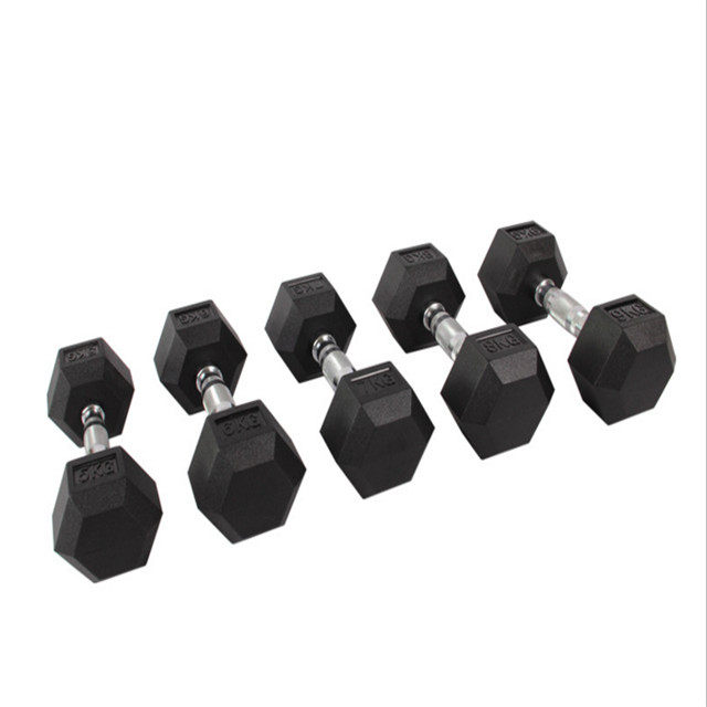 Gym Rubber Coated Hex Halter