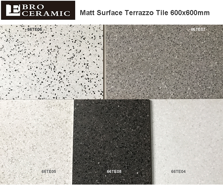 Terrazzo Full Polished Glazed Tile 600x600mm Kajaria