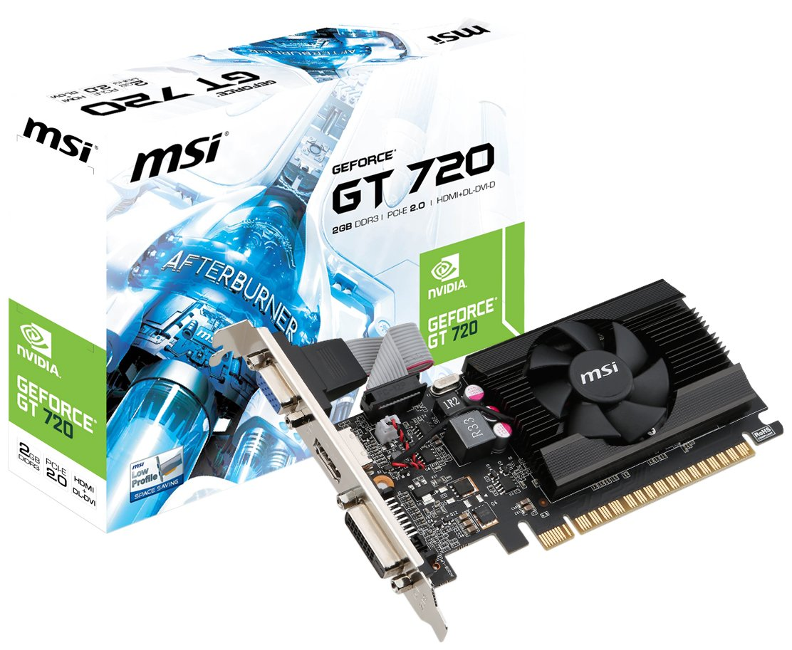 MSI Computer Video Graphic Card N720-2GD3LP