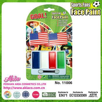 2014 Dünya Kupası Amerika Ekip Ulusal Bayrak Rengi Yüz Boya Sticker