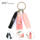 ZH3079 Your own brand mini lip and eye makeup kit lip gloss, lipstick and mascara with keychain