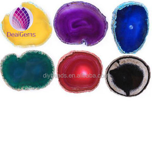 Wholesale Fashion Mixed Colors Agate Druzy Slice with Different Size