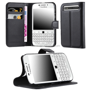 Top Sale Slim Flip Stand Lichee Pattern Mobile Phone Case For Blackberry Q20