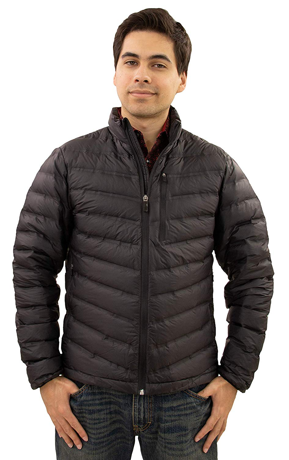 Tempco Mens Quilted Down Jacket