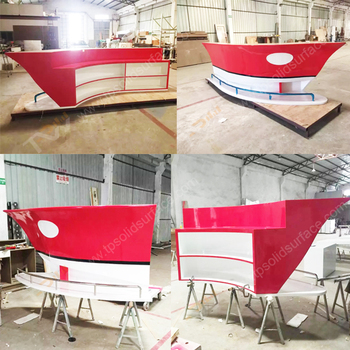 Red Color Boat Shape Home Bar Counter For Sale,modern Small Home Bar  Counter Design