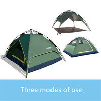 Double Layer 3 or 4 Person Automatic Hiking Tent Waterproof Family Camping Tent