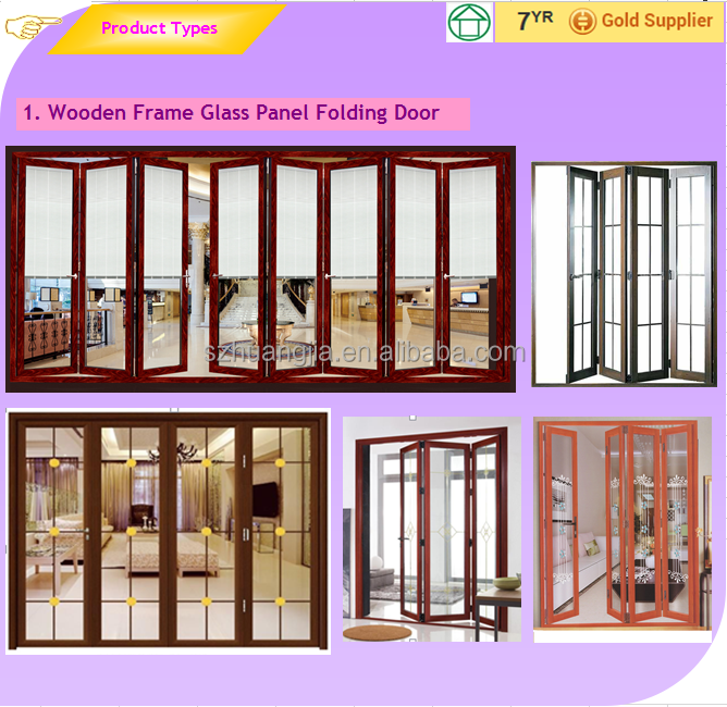 Outdoor Sliding Folding Door/balcony Aluminum Frame Glass Panel ...