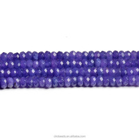 gemstone jewels jade CB42943 Dyed Jade Faceted Rondelle Beads